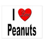 I Love Peanuts Small Poster