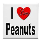 I Love Peanuts Tile Coaster