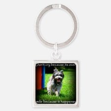 Smile because it happened Square Keychain