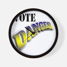 Vote Danger Wall Clock