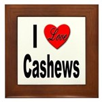 I Love Cashews Framed Tile