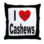 I Love Cashews Throw Pillow