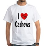I Love Cashews (Front) White T-Shirt