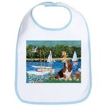 Sailboats & Basset Bib