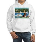 Sailboats & Basset Hooded Sweatshirt