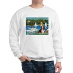 Sailboats & Basset Sweatshirt