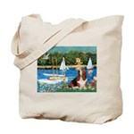Sailboats & Basset Tote Bag