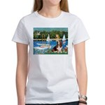 Sailboats & Basset Women's T-Shirt