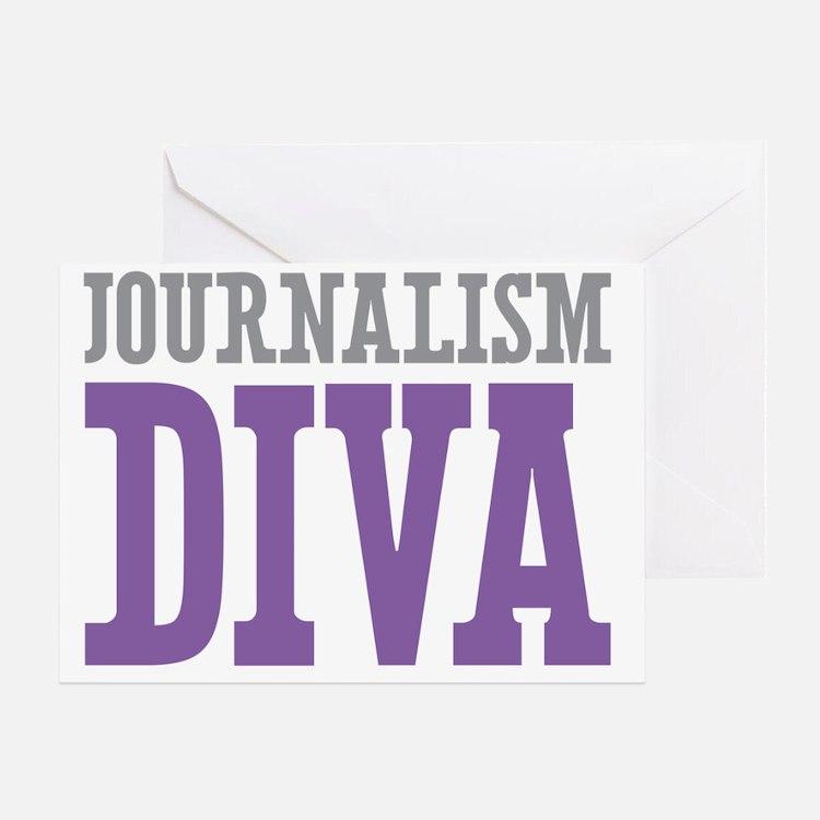 Journalism DIVA Greeting Card