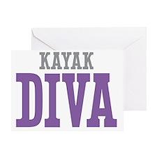 Kayak DIVA Greeting Card