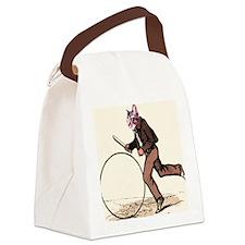 Big Wheel Cat Canvas Lunch Bag
