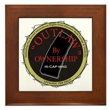 Outlaw By Ownership Framed Tile