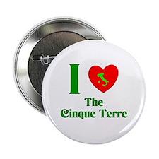 """I Love the Cinque Terre Italy 2.25"""" Button (100 pa"""