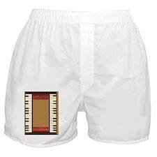 Piano Keys Music Gold Boxer Shorts