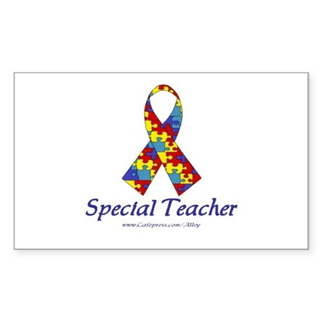 Special Teacher Rectangle Sticker