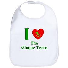 I Love the Cinque Terre Italy Bib