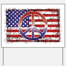 American Peace Yard Sign
