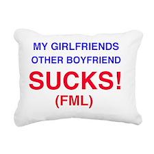 My Girlfriends other boy Rectangular Canvas Pillow