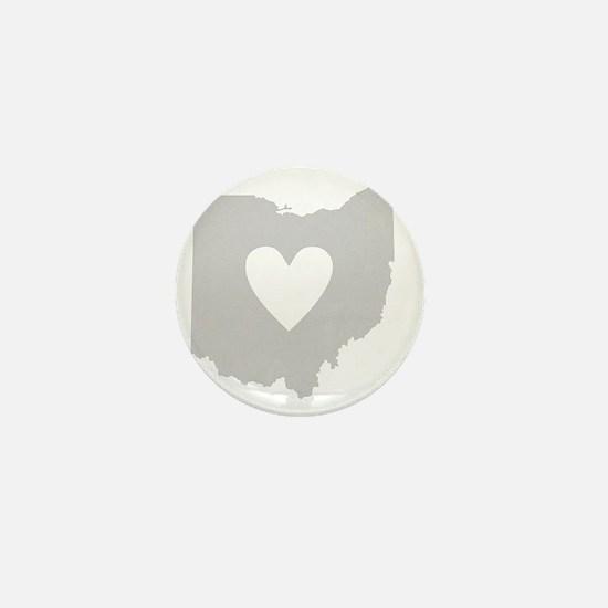 Heart Ohio state silhouette Mini Button