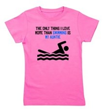 Swimming Auntie Girl's Tee