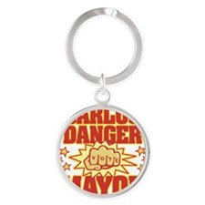 Carlos Danger for Mayor Round Keychain