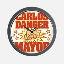 Carlos Danger for Mayor Wall Clock
