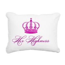 Her Highness text design Rectangular Canvas Pillow