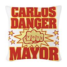 Carlos Danger Woven Throw Pillow