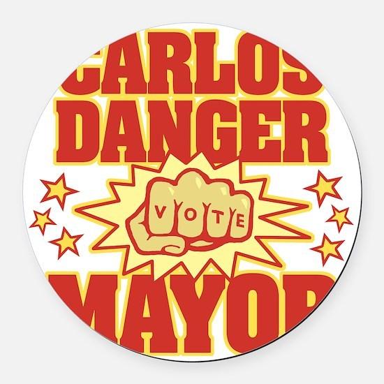 Carlos Danger Round Car Magnet