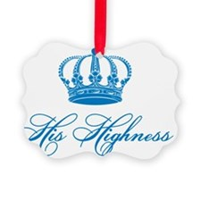 His Highness text design with an  Ornament