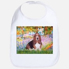 Basset in the Garden Bib