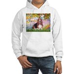 Basset in the Garden Hooded Sweatshirt