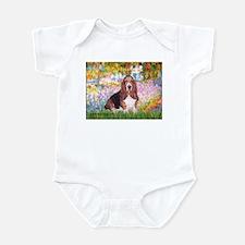 Basset in the Garden Infant Bodysuit