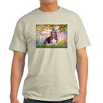 Basset in the Garden Light T-Shirt