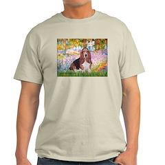 Basset in the Garden Light T-Shirt
