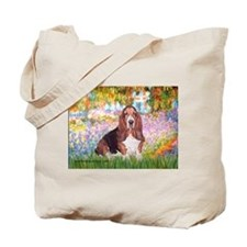 Basset in the Garden Tote Bag