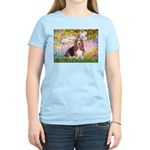 Basset in the Garden Women's Light T-Shirt