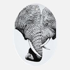 African Elephants iPad Mini Oval Ornament