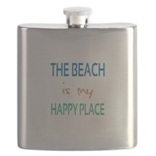 The Beach Is My Happy Place Flask