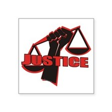 "Justice Square Sticker 3"" x 3"""
