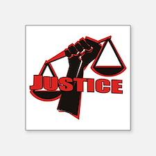 """Justice Square Sticker 3"""" x 3"""""""