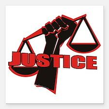 """Justice Square Car Magnet 3"""" x 3"""""""