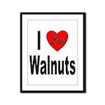 I Love Walnuts Framed Panel Print