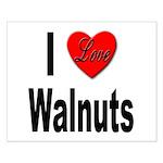 I Love Walnuts Small Poster
