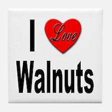 I Love Walnuts Tile Coaster