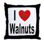 I Love Walnuts Throw Pillow