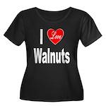 I Love Walnuts (Front) Women's Plus Size Scoop Nec