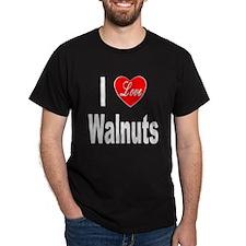 I Love Walnuts (Front) T-Shirt