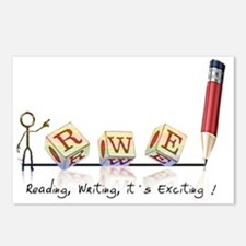 Reading, Writing, It's Ex Postcards (Package of 8)