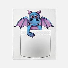 Cute Baby Dragon in Pocket Throw Blanket